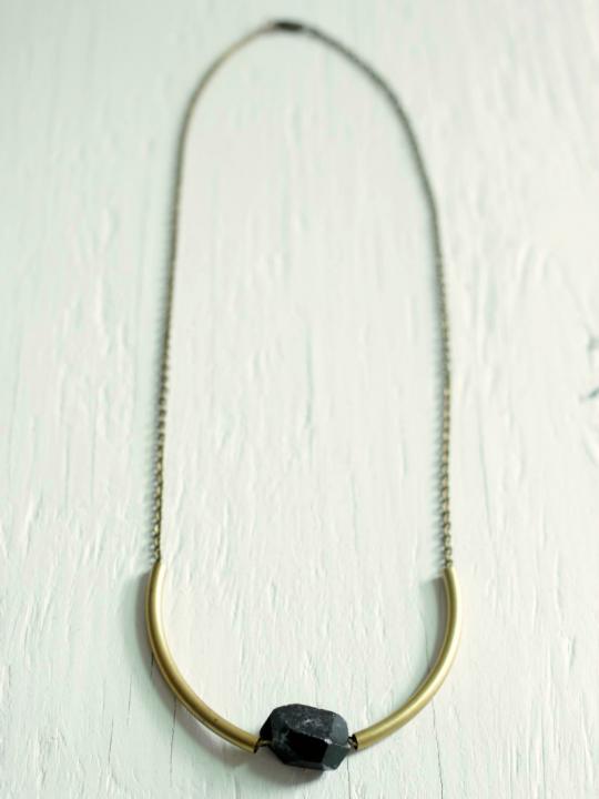 black stone necklace