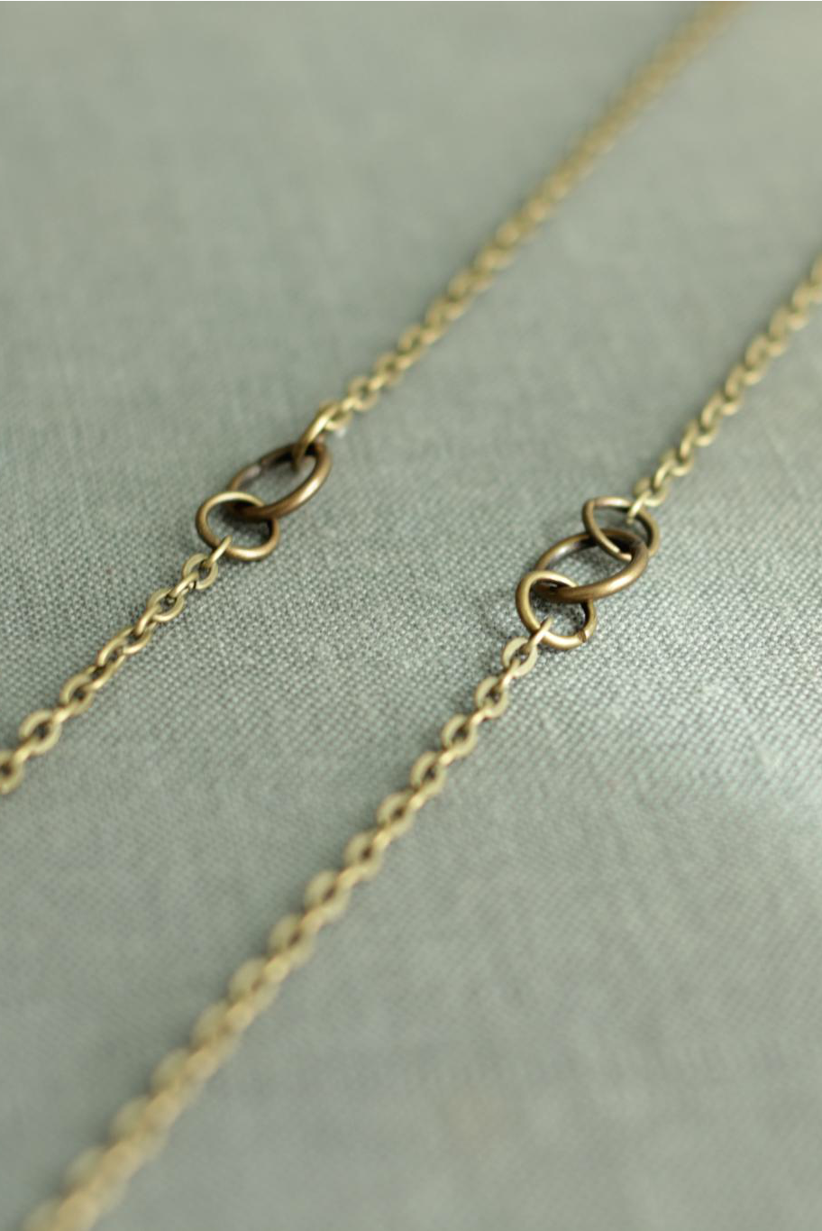 brass necklace jumpring chain