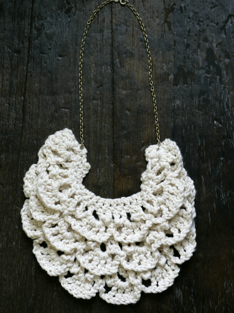 crochet bib necklace