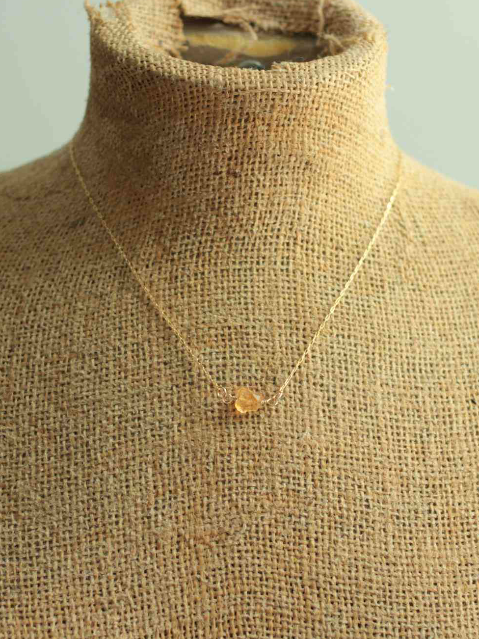 delicate citrine necklace