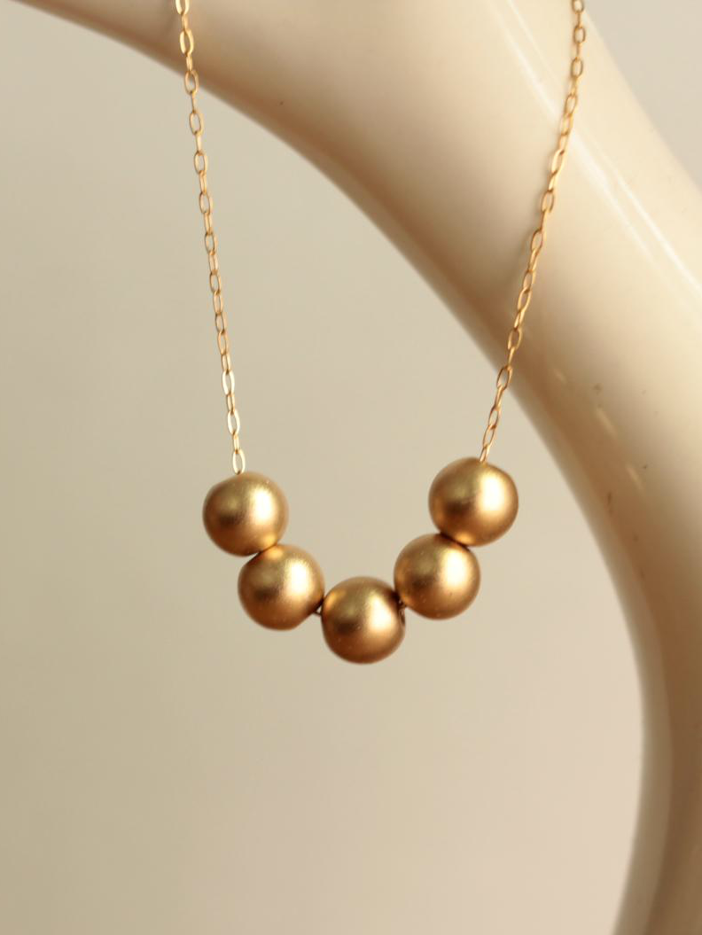 gold filled ball necklace