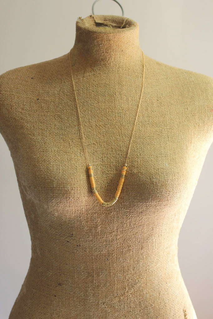 orange heishi necklace