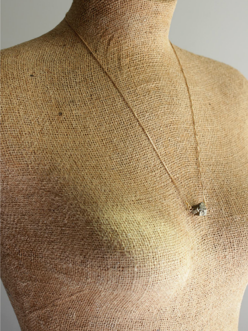 rough pyrite necklace