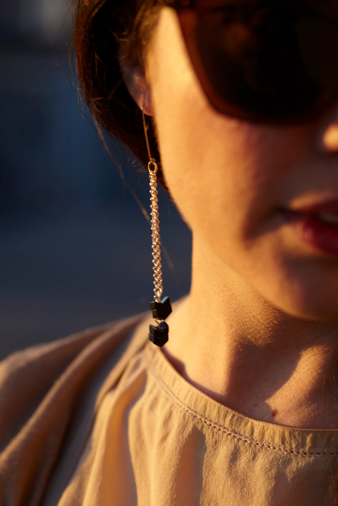 simple chevron earrings