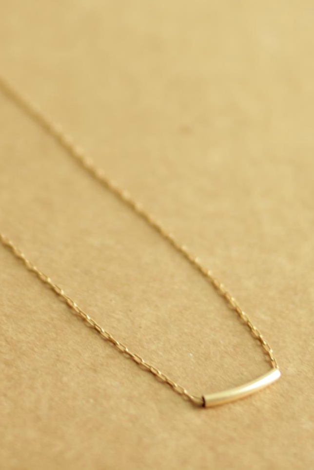simple gold filled necklace