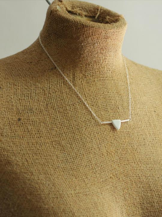 white arrow necklace