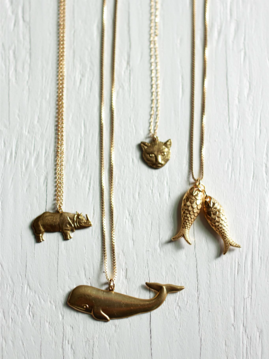 animal jewelry necklaces
