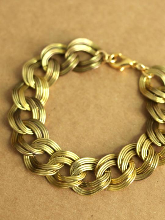brass chain bracelet