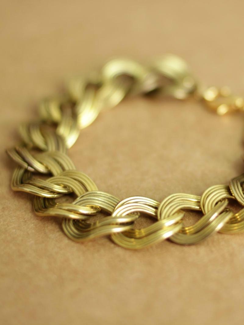 oversized chain bracelet
