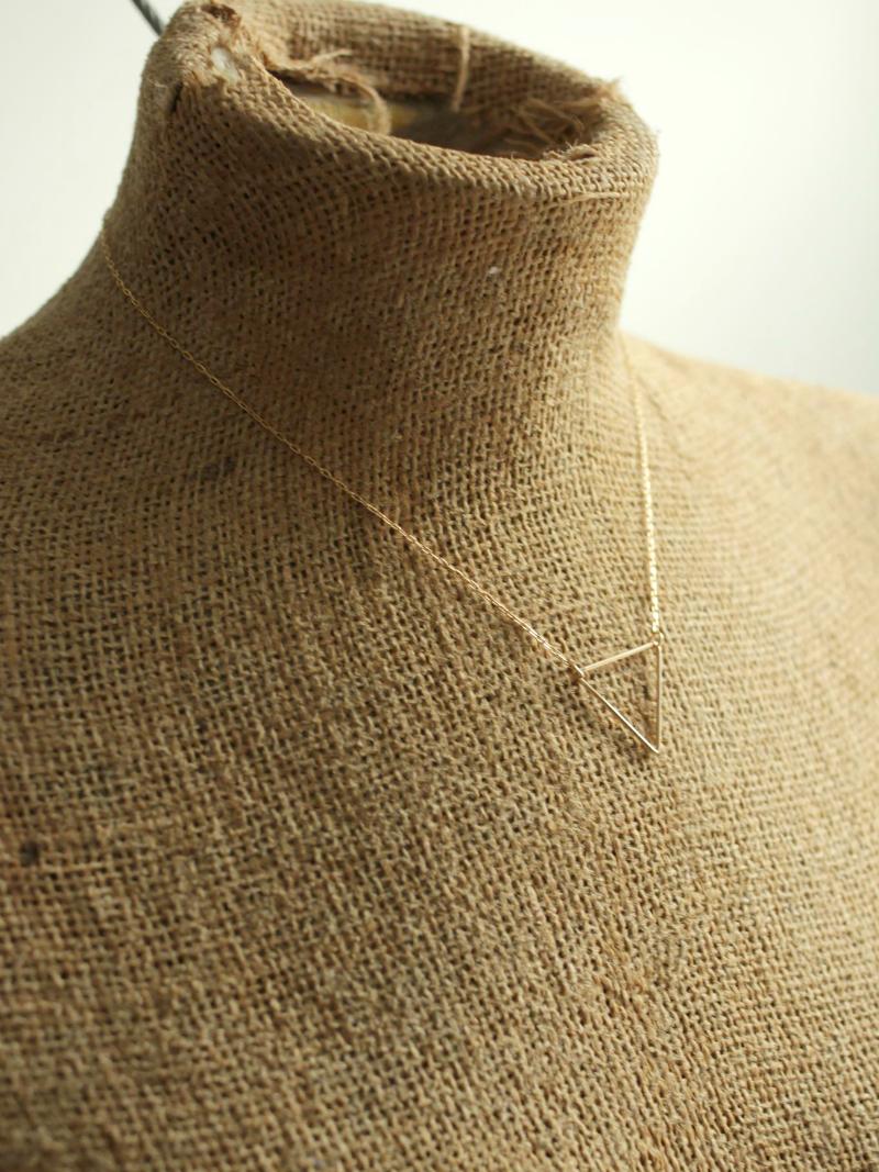 dainty triangle necklace