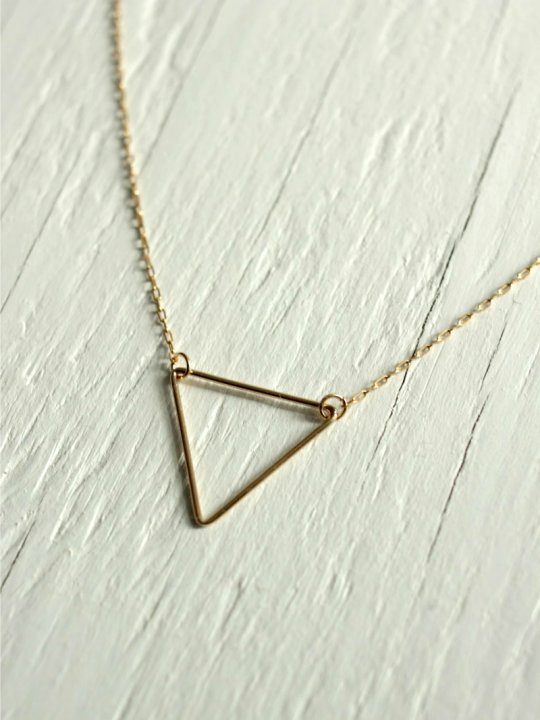 delicate triangle necklace