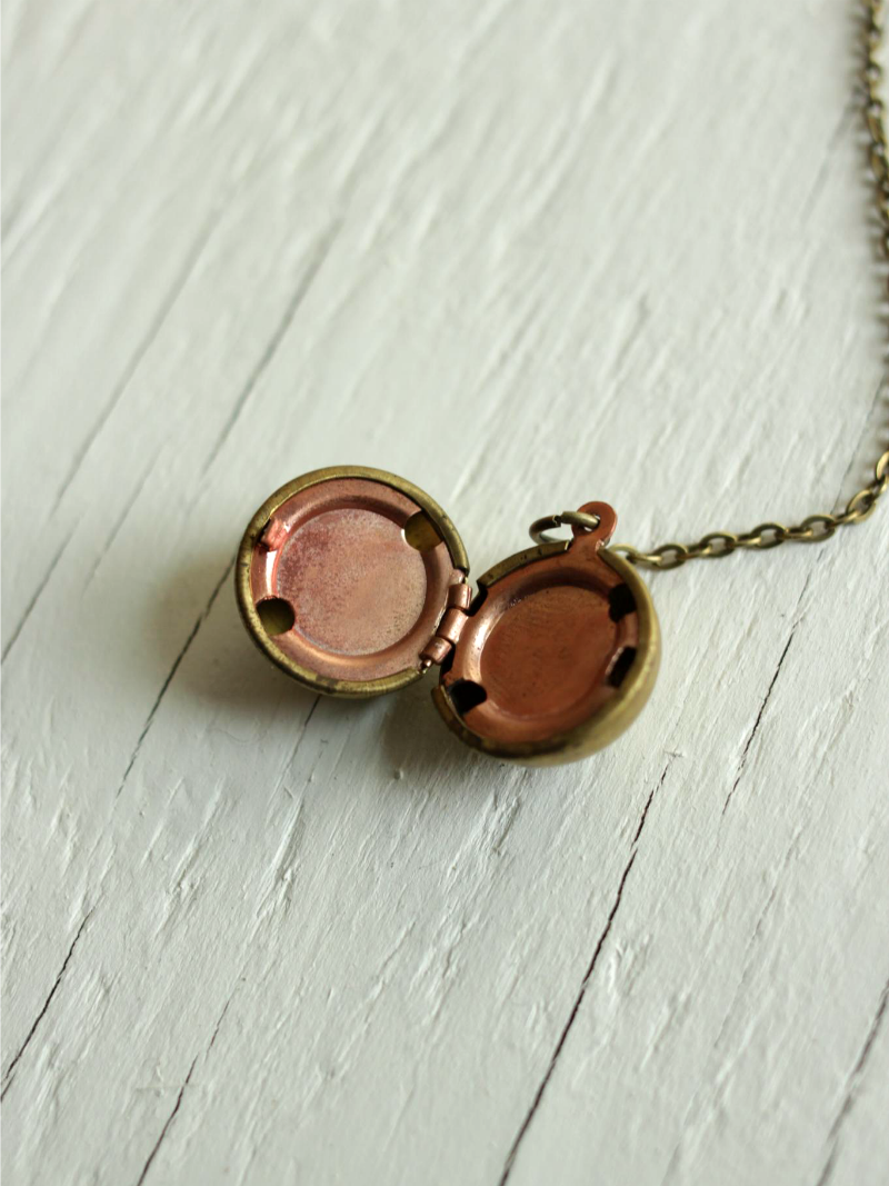 brass ball locket