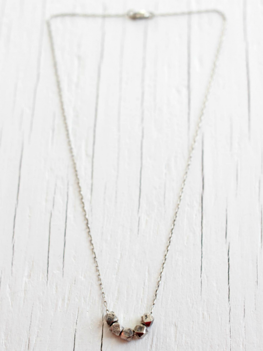 delicate sterling silver necklace