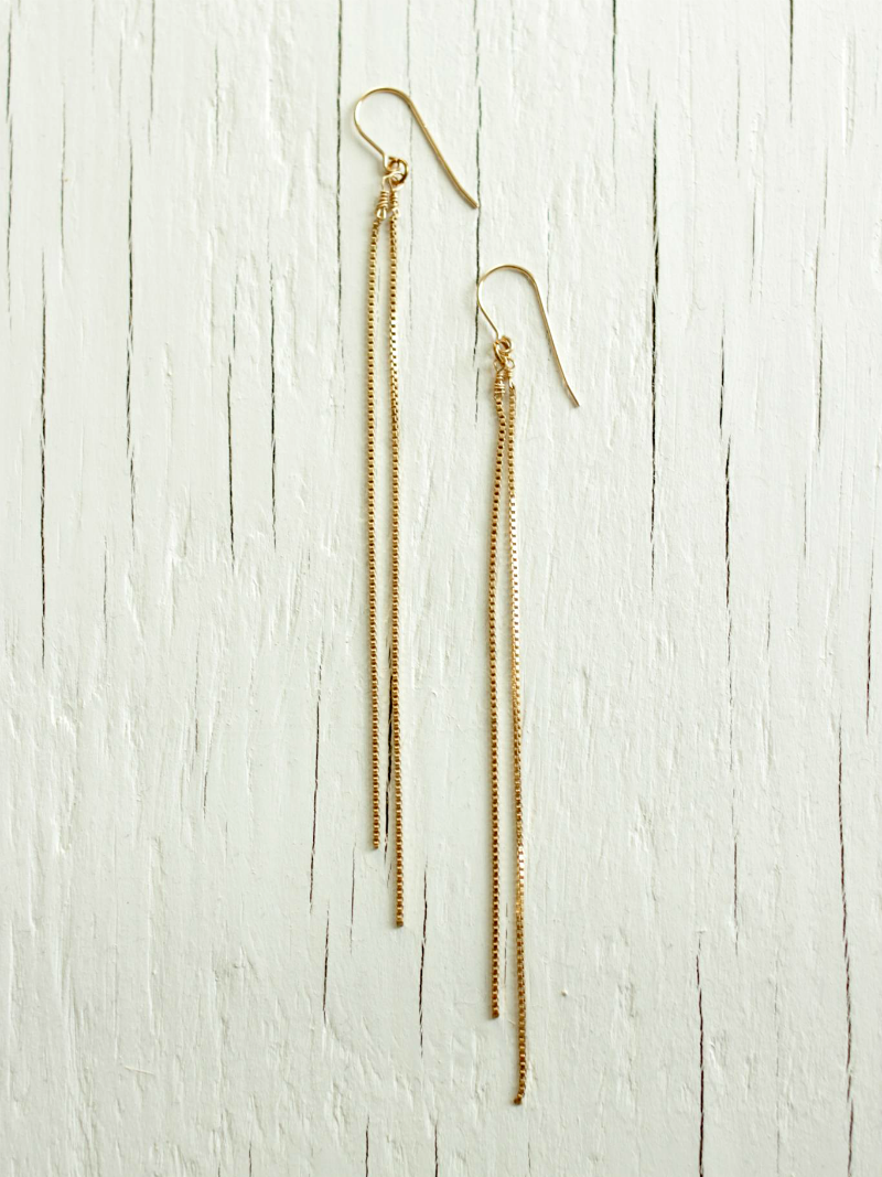 Gold Chain Chandelier Earrings