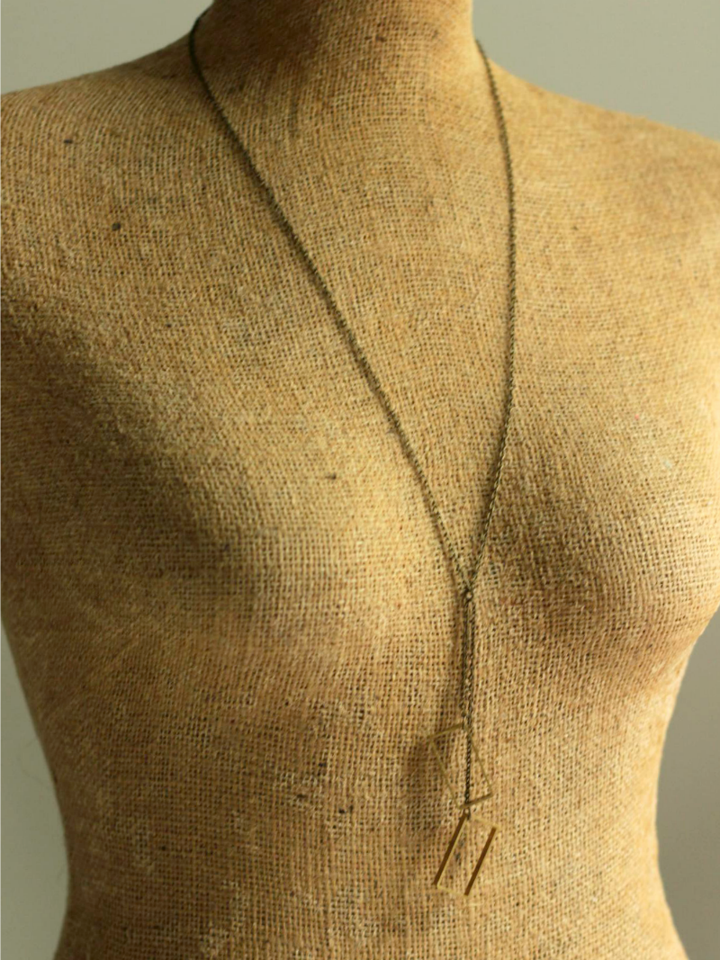 long rectangle necklace