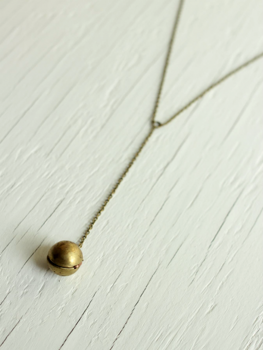 raw brass ball locket
