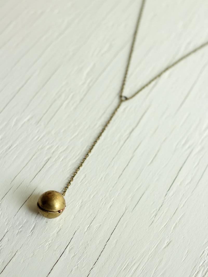 raw brass ball locket