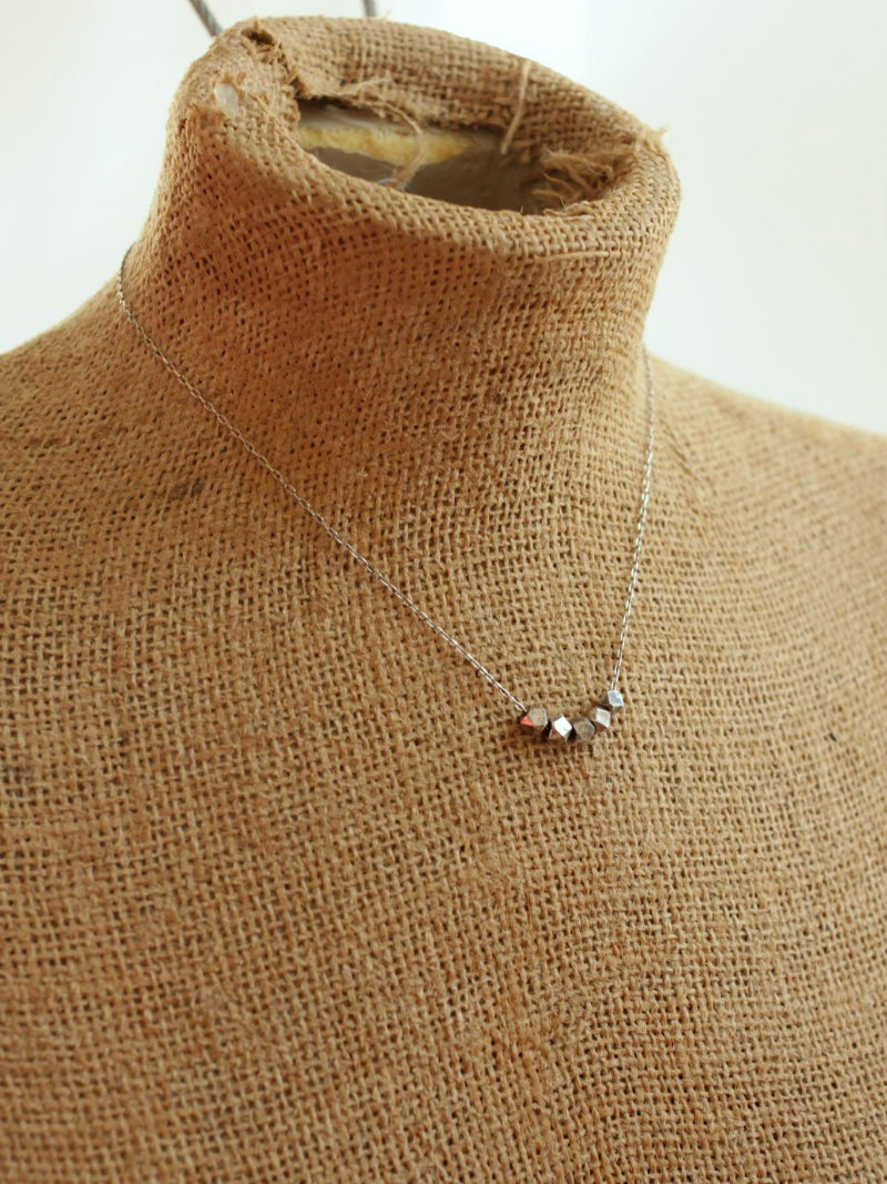 sterling silver necklace with beads