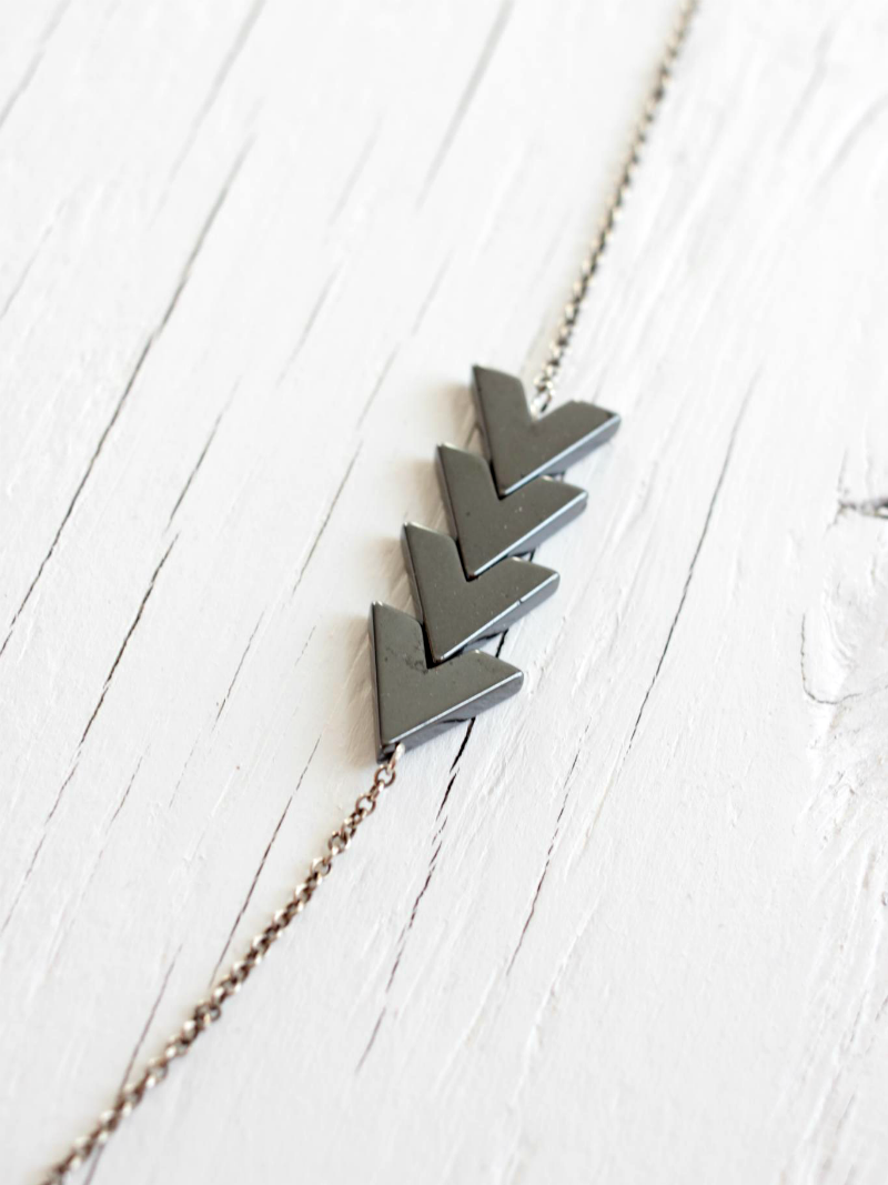 vegan arrow necklace