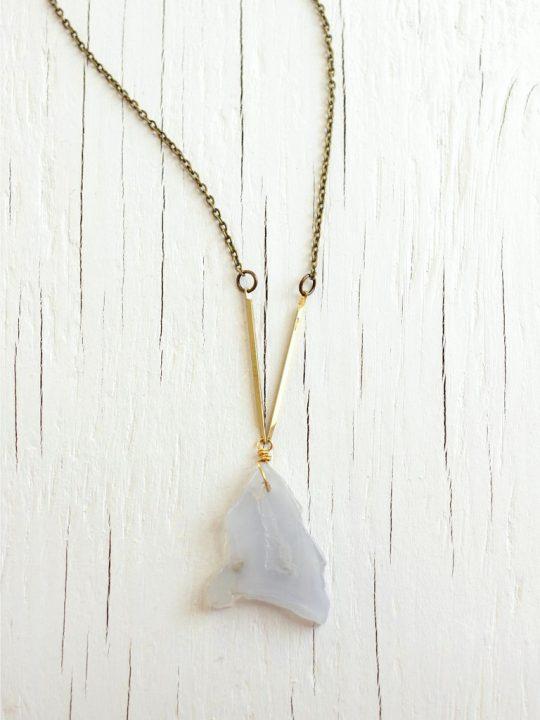 lace agate necklace