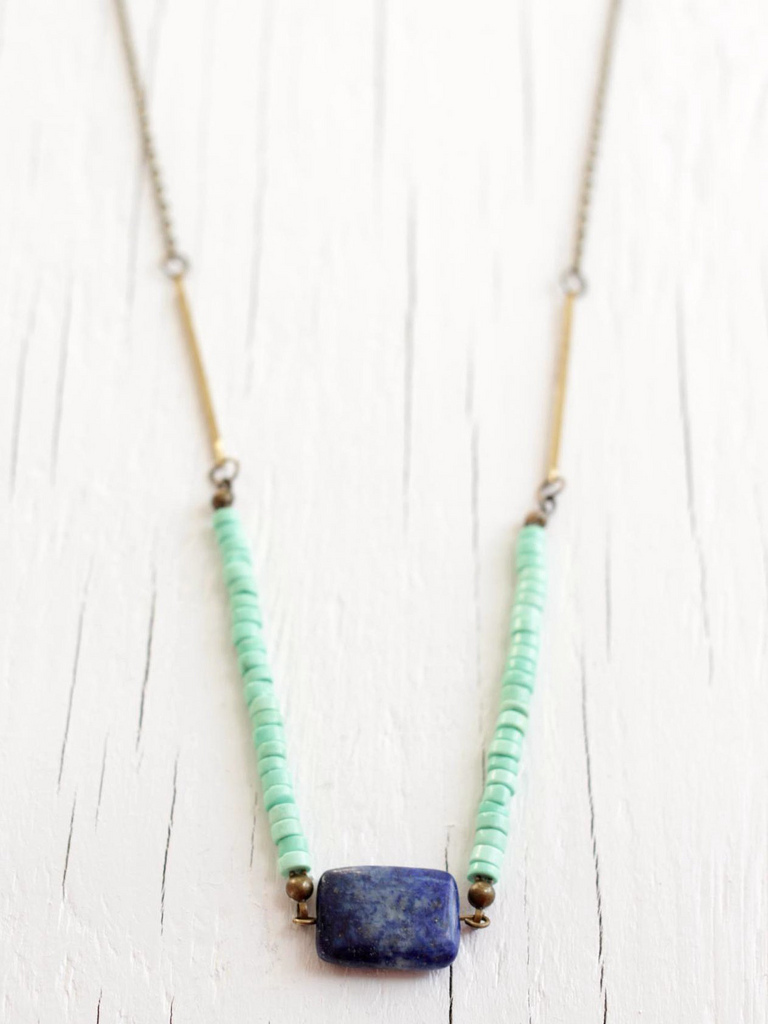 lapis lazulie necklace with turquoise