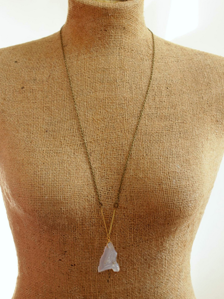 pastel stone necklace