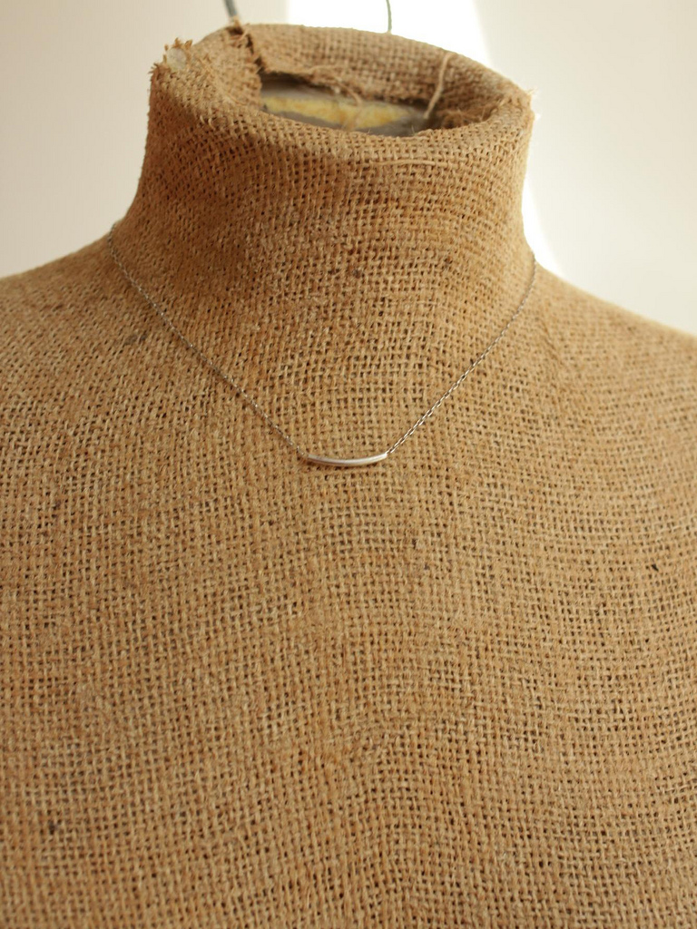 stering silver bar necklace