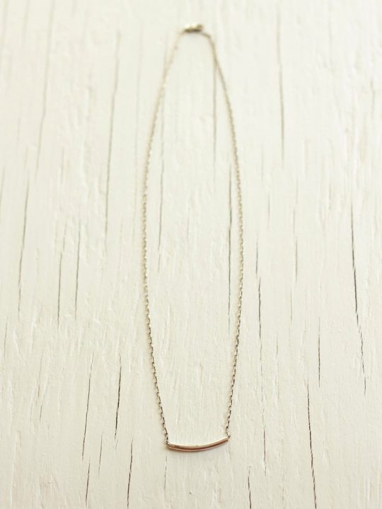 sterling silver tube necklace