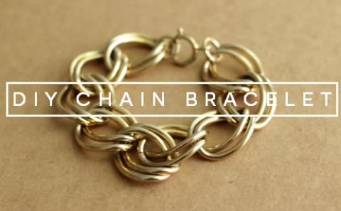 DIY make a chain bracelet feature