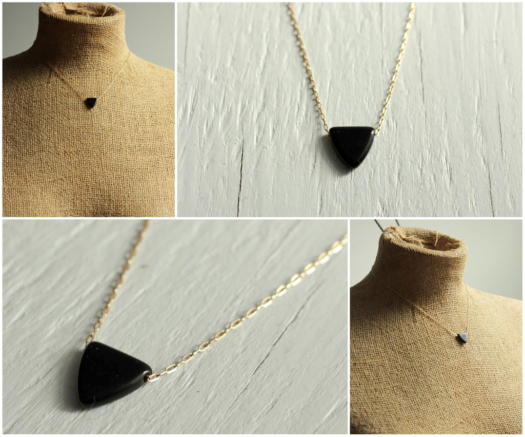 black triangle necklace