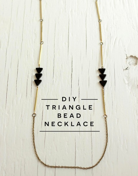 diy triangle bead necklace tutorial