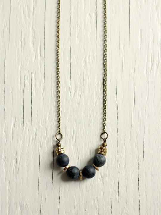 sandstone heishi necklace