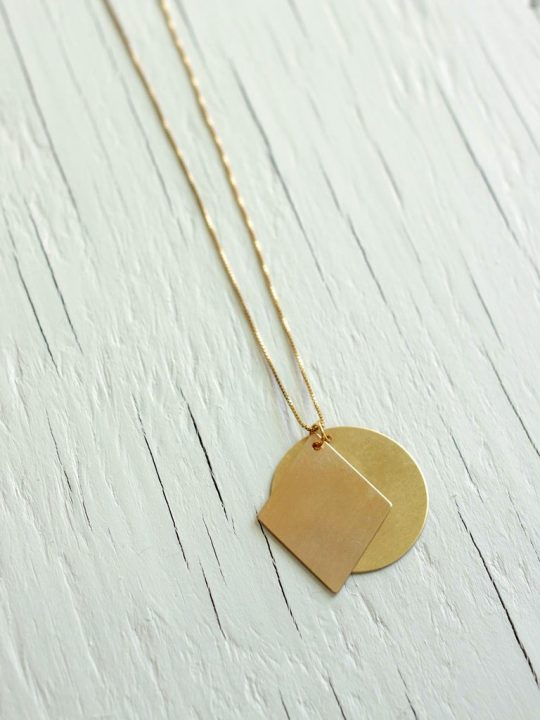 Circle and Diamond Necklace