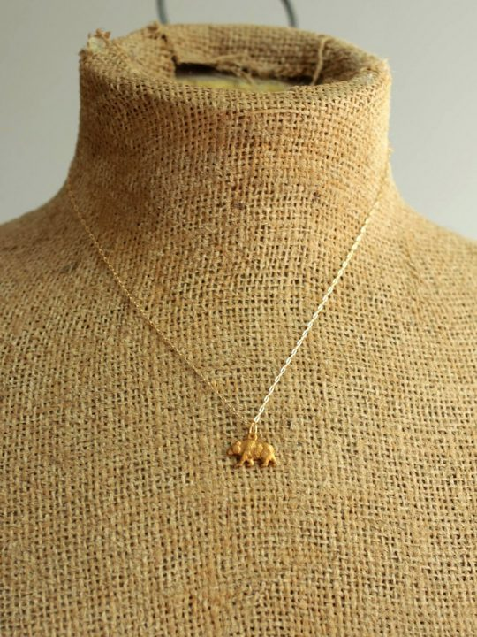 delicate bear necklace
