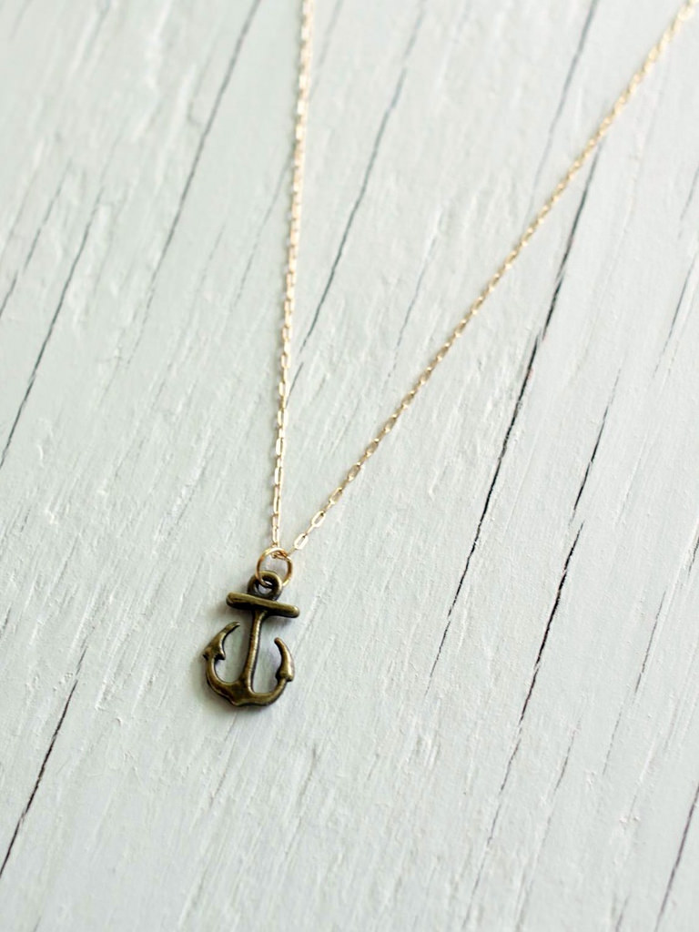 greyjoy small anchor necklace