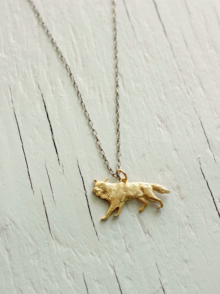 sterling silver stark wolf necklace