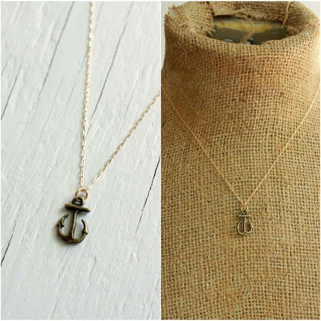 small anchor necklace greyjoy