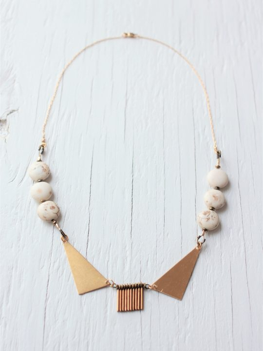 Metal Collar Necklace with fringe