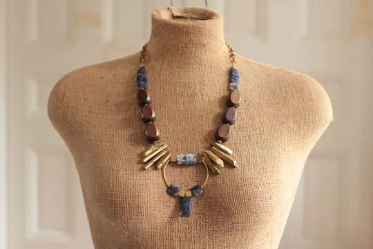 Chunky statement necklace on mannequin