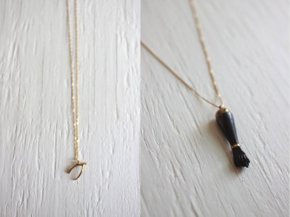 Good Luck Necklaces: Wishbone and Figa Charms